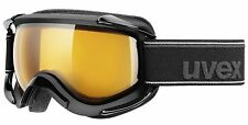 uvex Goggles Ski Snowboard Sioux pure black mat - lens-sheric goldlite S1