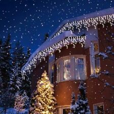 BRIGHT WHITE SNOWING LED ICICLE LIGHTS INDOOR OUTDOOR X'MAS WEDDING PARTY LIGHTS