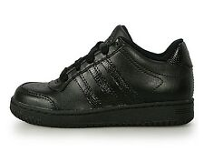 Adidas Supercup Low Kids Black Leather Shoes G09085 Sz4-7Y Fast Shipping ss
