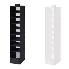 White Black Hanging Clothes Closet Storage Shoes Organizer Rack Ikea Skubb