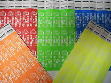 RAINBOW MIX OF 5 COLORS DRINKING AGE VERIFIED TYVEK WRISTBANDS