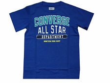 BOYS CONVERSE ALL STARS LOGO T-SHIRT STYLE 963307 - ROYAL BLUE