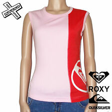 QUIKSILVER ROXY 'PAYDAY' WOMENS T-SHIRT SLEEVELESS PINK UK 10 12 BNWT RRP £22
