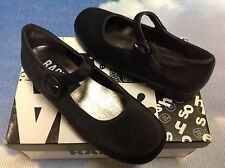 Rachel Tabitha Black Microfiber Buckle Mary Janes Dress Shoe Toddler Size 9.5,10