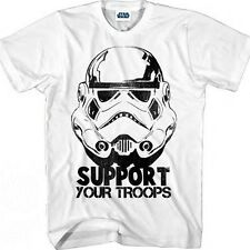 NEW! Star Wars Imperial Storm Trooper Support Your Troops Shirt White Large L
