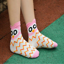 Fashion 1Pair New Unique Women and Girls Cartoon Lovely Cute Owl Cotton Socks