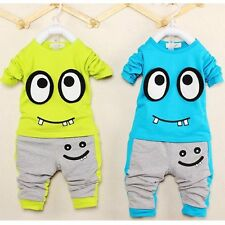 2pcs Toddler Kids Baby Boy Girl Outfit Long Sleeve T-shirt Top+Pants Clothes Set