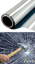 12MIL Clear Safety Film Window Solar Tint Commercial Security Display