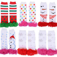 Snowflake Girls Lace Ruffle Leggings Toddler Kids Leg Warmers Socks Stockings