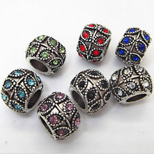 1X Inset Rhinestone Bead for Charms Bracelets Fashion Necklack Jewelry Making SP