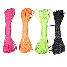 8 Core 100 FT 550 Paracord Parachute Cord Reflective Lanyard Mil Spec Type III