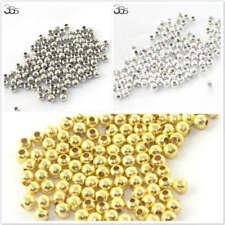 4 6 8 10mm Wholesale Gold/Silver Seed Seamless Metal Brass Spacer Beads 100 Pcs