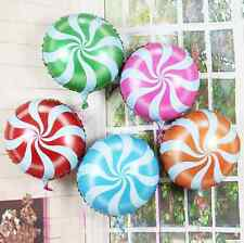 "18"" CANDY SWIRL LOLLIPOP FOIL BALLOON. CHRISTMAS BIRTHDAY EASTER PARTY KIDS"