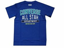 JUINIOR BOYS CONVERSE ALL STARS T SHIRT 863307 AGE 3 TO 7 YEARS - ROYAL BLUE