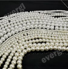Hot Pearl Lots Glass Pearl Round Spacer Loose Beads 4mm/6mm/8mm/10mm