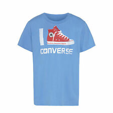 BOYS CONVERSE ALL STARS BOOT LOGO FASHION T-SHIRT STYLE 963419 - BLUE