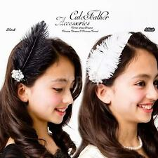 Elegant Lady Feather Hair Clip Rhinestone Faux Pearl Hair Accs Metal Hair Clip