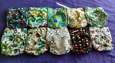 Lot of 10 New Unisex Tagless ALVA Cloth Pocket Diapers With Double Gussets