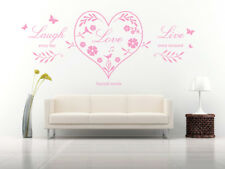 Live Laugh Love Heart Quote, Wall Art Stickers Decal Murals, Bedroom, Lounge