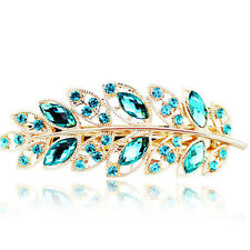 Hot Girls Hair Clip Leaf Crystal Rhinestone Barrette Hairpin Headband Accessorie