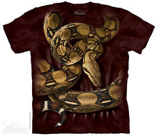 Boa Constrictor T-Shirt by The Mountain. Reptile Red Tailed Sizes S-5XL NEW
