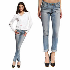 Anladia Womens Ladies Sexy Skinny Jeans Pencil Fit Light Blue Pants Jegging 0-12