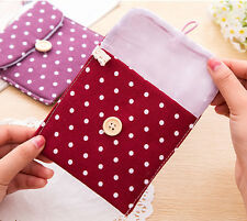 Girl Convenient Polka Dot Sanitary Pad Holder Sanitary Napkin Towel Small Bag