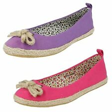Ladies Spot On Canvas Espadrilles The Style - F2234