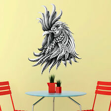 Rooster Wall Sticker Decal – Ornate Animal Art by BioWorkZ
