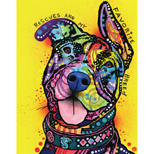 Pit Bull Splash Art Decal - My Favorite Breed by Dean Russo