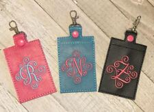 Monogram ID Holder Key Fob