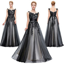 Beaded Black Long Short Cocktail Evening Dresses Formal Party Prom Wedding Gowns