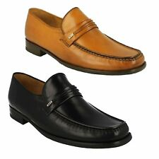 PALERMO 2 MENS LOAKE BLACK TAN LEATHER MOCCASIN STYLE SMART FORMAL SLIP ON SHOES