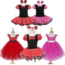 Baby Toddler Girls Minnie Mouse Cosplay Costume Kids Party Tutu Fancy Dress