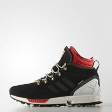 NEW MENS ADIDAS ORIGINALS ZX Flux 9 Winter Shoes Boots Black White Red S82931