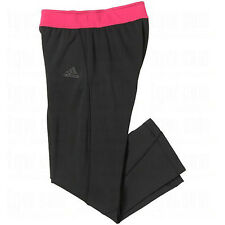 NEW with Tag Adidas Womens Climalite 3/4 Tight Capri Pants XLarge Black/Pink