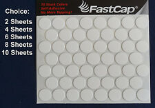"2, 4, 6, 8 or 10 Sheets Fastcap 9/16"" White Peel & Stick Screw Covers 9/16 Inch"