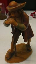 ANRI | Man With Boat Hat & Stick Hand Carved Wooden Figurine *NEW* RARE