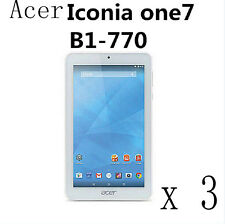 3 Glossy Matte Screen Protector Guard Film Skin For Acer Iconia One B1-770 7""