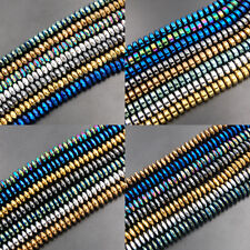 """Hematite Gemstone Rondelle Spacer Beads 15"""" 2mm 3mm 4mm 6mm 8mm Smooth Faceted"""