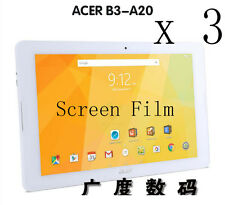 3 Glossy Matte Screen Protector Guard Film For Acer Iconia One 10 B3-A20 10.1""