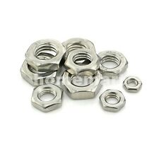 10-100PCS 304 STAINLESS STEEL FINE PITCH HEX HALF LOCK NUTS HEX THIN NUT M3-M20