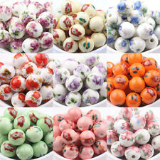 Lots Of Round Ceramic Porcelain Loose Spacer Beads Jewelry Findings 12mm DIY