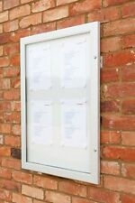Super Secure SLIM - Outdoor Lockable Notice Board, Magnetic Surface