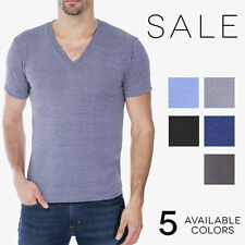 American Apparel Tri Blend V Neck T Shirt TR461 Vintage Style Track Tee Shirt
