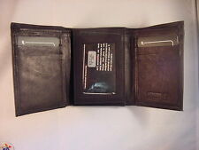 TRIFOLD WALLET BLK USMC MARINE CORPS ARMY NAVY AIR FORCE COAST GUARD AUXILIARY