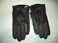 "Men's ""Black/Brown 1826"" Driving Deerskin Leather Gloves"