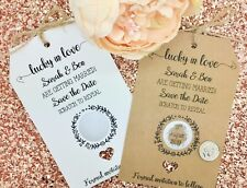 """Lucky in Love"" "" Save The Date / Evening Card Wedding Invitation with Envelope"