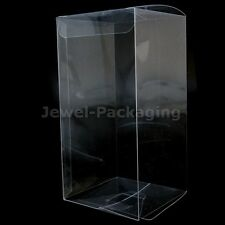 Clear Plastic PVC Boxes Party Favor Wedding Tuck Top Display Box 7x7x14cm