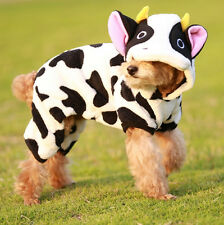 Hot! Pet Cloth Lovely Cow Costume Cosplay Funny Cool Holiday Cat Dog Cloth